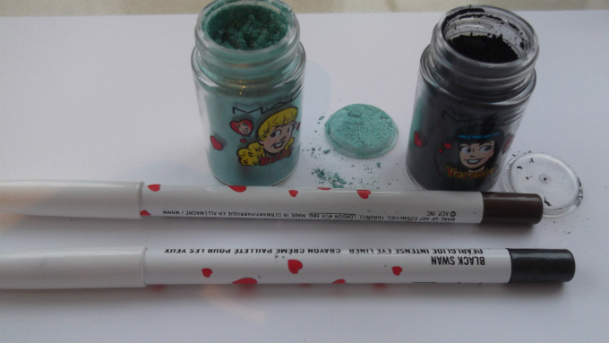 Archie Pressed Pigments and Pencils in Lucky In Love, Magic Spells, Lord It Up and Black Swan