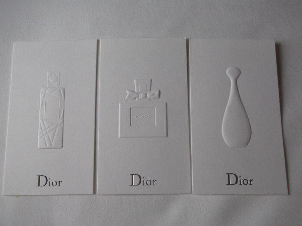 Dior Fragrance Cards