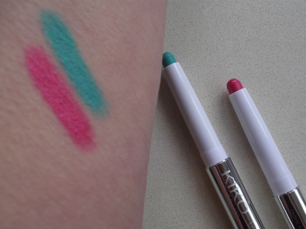 Kiko Long Lasting Stick Eyeshadow Swatches