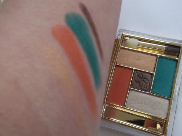 Estee Lauder Bronze Goddess Pure Color Fice Color Eyeshadow Palette Batik Sun Swatch