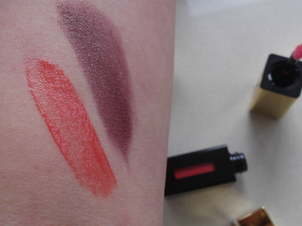 YSL Rouge Pur Couture in Brun Sultan and Vernis A Levres in Corail Alla Prima