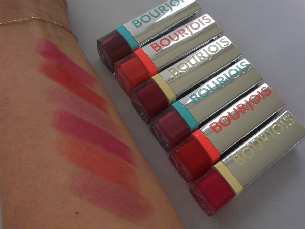 Bourjois Summer 2013 Shine Edition Lipstick Swatches