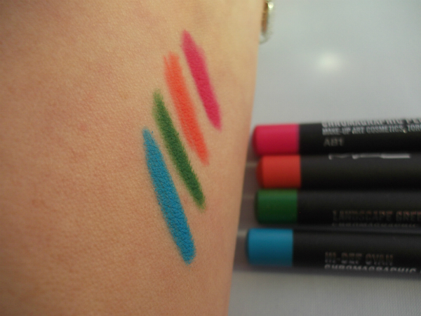 MAC Chromographic Pencils Swatched