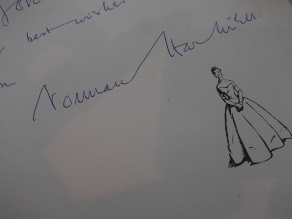 Norman Hartnell Book Autograph