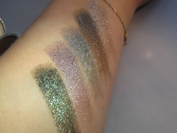 Urban Decay Moondust Swatches