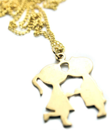 Boy & Girl Kissing Necklace