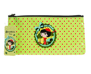 Green Decodelire Spot Trim Make Up Bag
