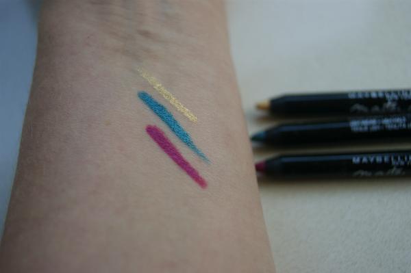 Maybelline Master Drama Chromatics Liners Swatch