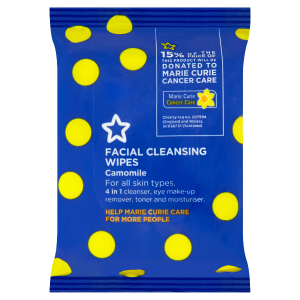 Marie Curie Facial Wipes