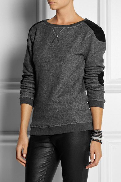 Suede Trimmed Sweat