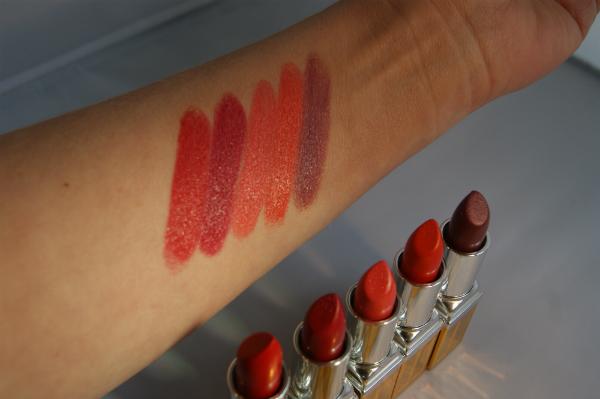 Elizabeth Arden Lipstick Swatches
