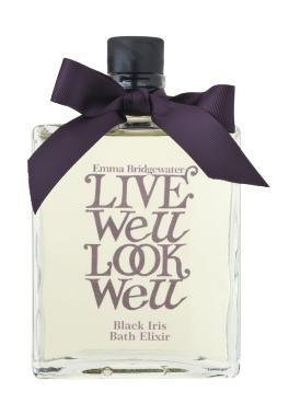 Emma Bridgewater Live Well Look Well Black Iris Bath Elixir