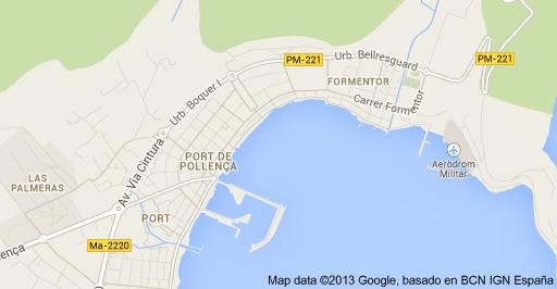 Map of Port de Pollenca