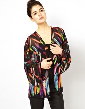 Oh My Love Feather Kimono