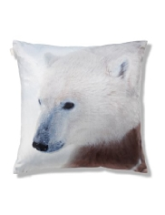 Polar Bear Velvet Cushion