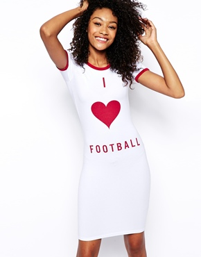 ASOS I Heart Football Dress
