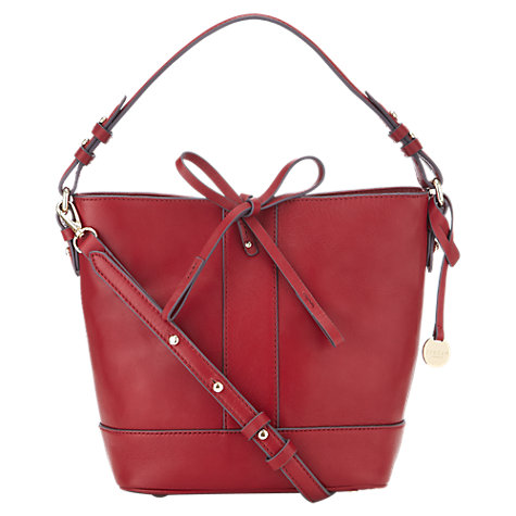 Jigsaw Red Bucket Bag