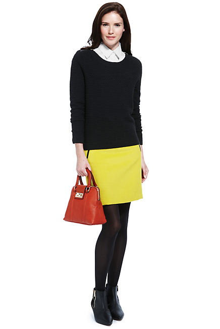 M&S Yellow Skirt