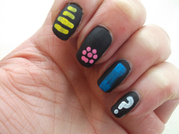 Ciate Chalkboard Nails Swatch Decorated