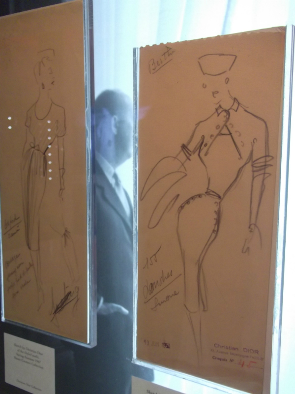 Dior Harrods Original Dior Sketches