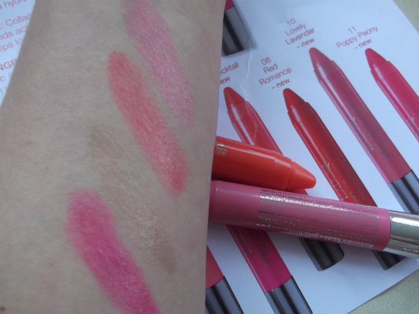 Isadora Gloss Stick Swatches