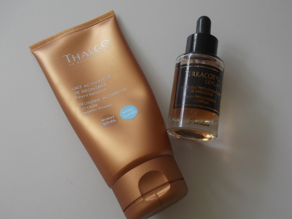 Thalgo Bronzing Activator and Guerlain Terracotta Serum