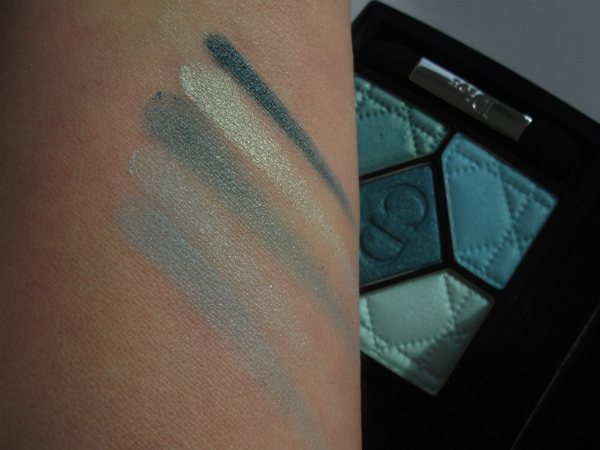 Dior Birds of Paradise 5 Couleur Palette in Blue Lagoon Swatched