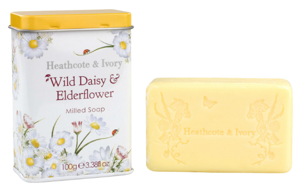 Heathcote  Ivory Wild Daisy & Elderflower Soap