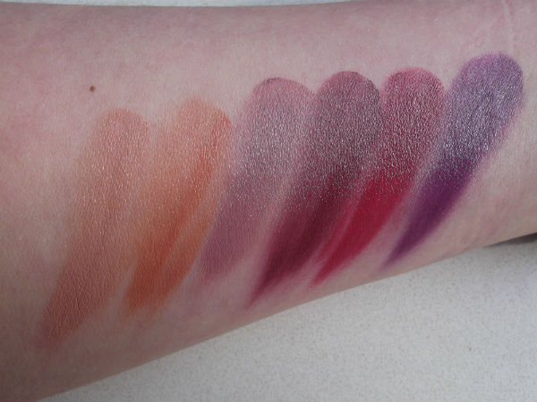 MAC Fall 2013 Forecast Palette Lips Swatch