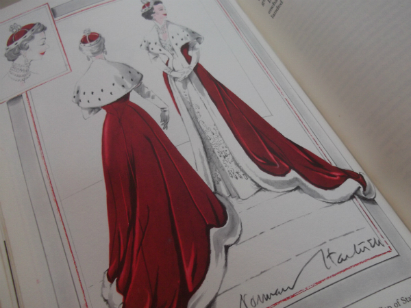 Norman Hartnell Illustration Designs For The Robe And Cap Of State for the Coronation