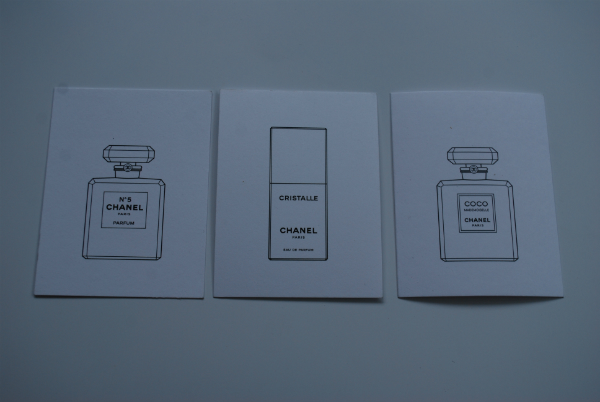 Chanel Fragrance Cards