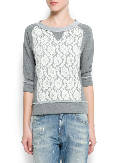 Lace Panel Sweat
