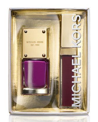 Michael Kors Glam Lip Lustre & Nail Set