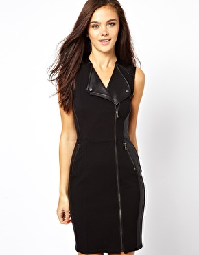 River Island Sleeveless Biker Dress