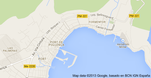 Map of Port de Pollenca