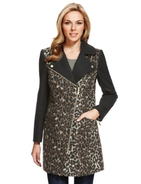 M&S Animal Print Coat