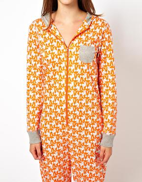 New Look Fox Print Onesie