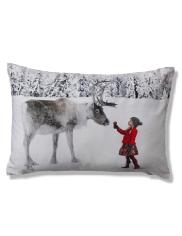 Holly & Reindeer Cushion