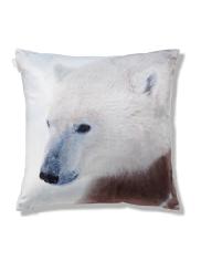 Polar Bear Velvet Cushion