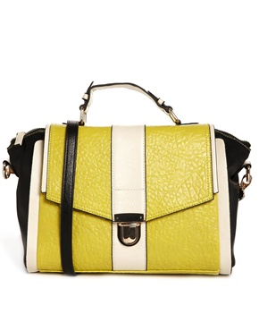 Warehouse Colour Block Satchel