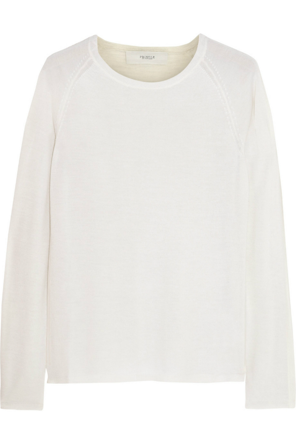 Pringle Ivory Cashmere Silk